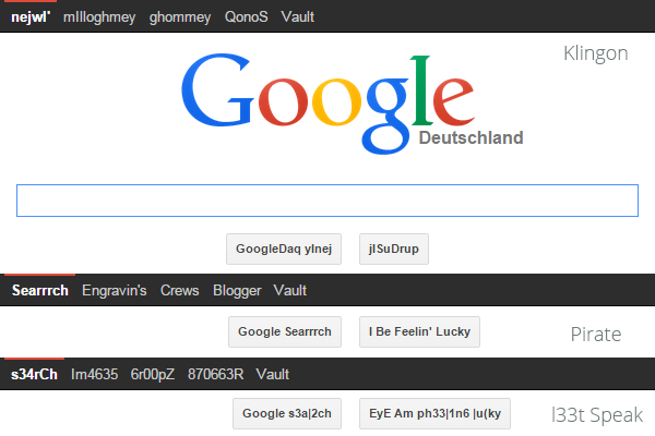 tillde-ee-language Easter Eggs bei Google, YouTube und Co.