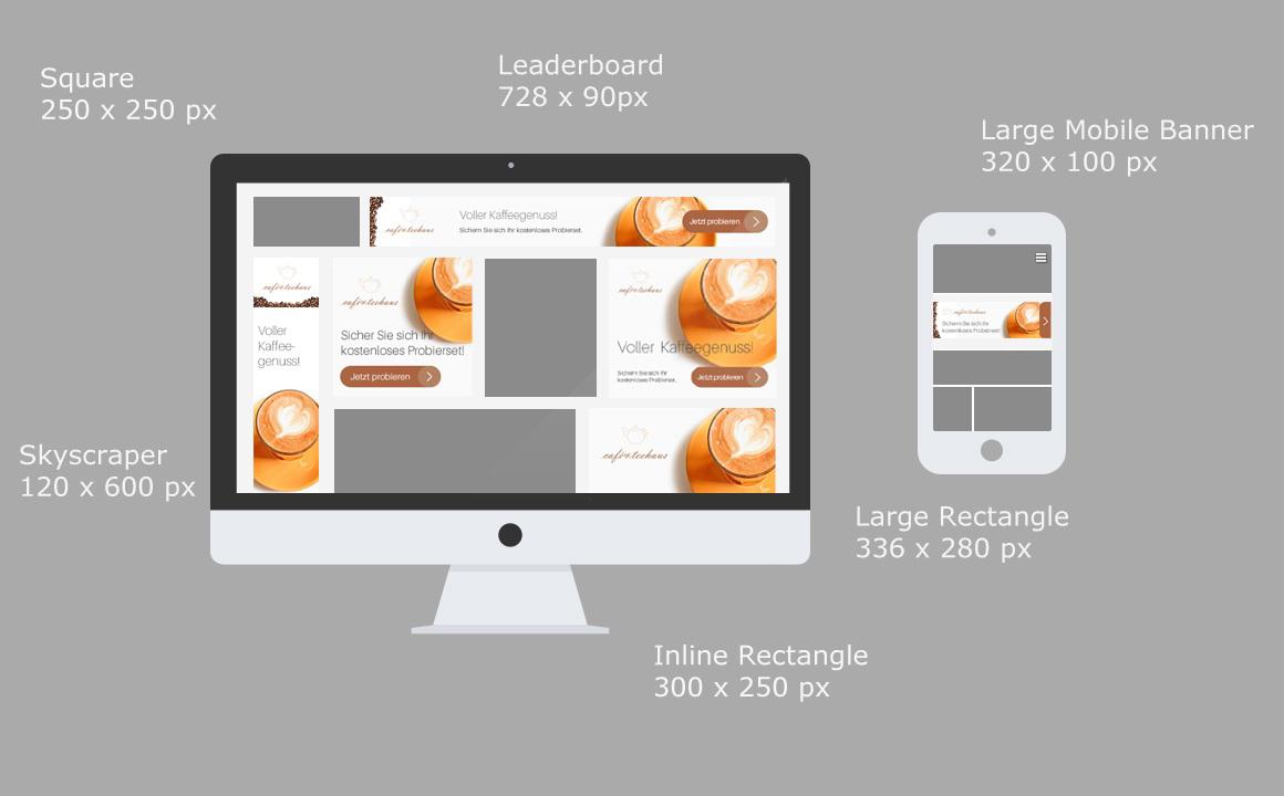Bannerformen im AdWords Display Netzwerk