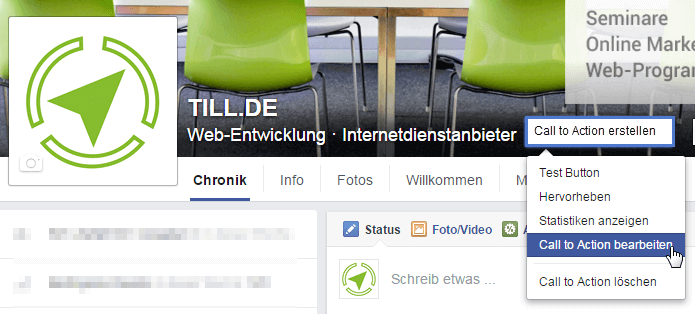 Call to Action auf Facebook