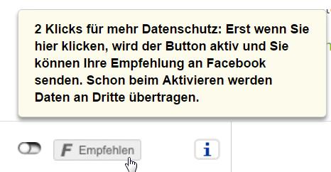 2Klick-Lösung Facebook