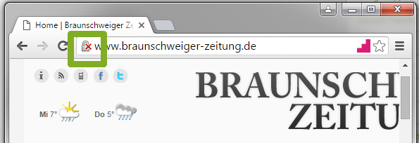 Warnhinweis HTTP