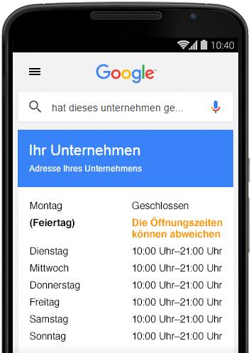 TILL.DE-Google-My-Business-Sonderöffnungszeiten-ohne Spezielle Öffnungszeiten für Ihr My Business Profil
