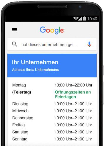 TILL.DE-Google-My-Business-Sonderöffnungszeiten Spezielle Öffnungszeiten für Ihr My Business Profil