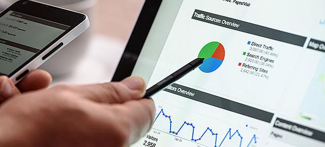 Google-Analytics-Datenansicht Website Analyse für Human Resource