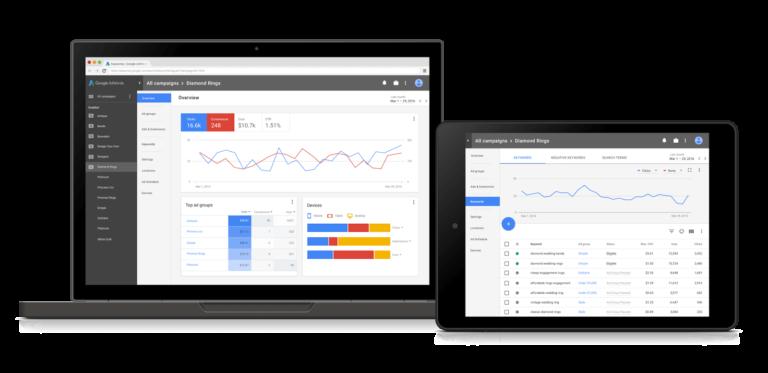 Google AdWords Ansichtwechsel zu AdWords Next