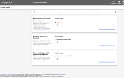 Google Ads Richtlinienmanager