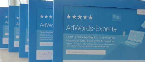 TILL.DE AdWords Experten Zertifikate
