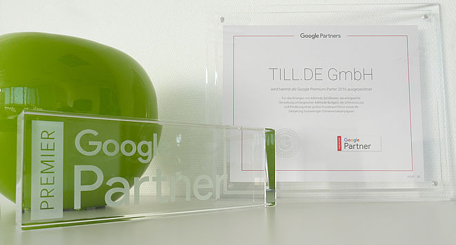 TILL.DE Google Premier Partner Auszeichnung