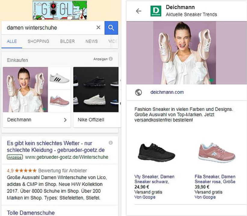 Google-Shopping-Damen-Winterschuhe Google Shopping - eine Werbeplattform für Händler