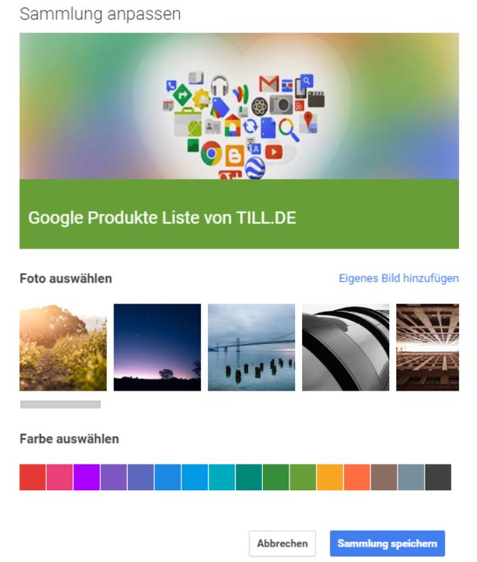 TILL.DE-Sammlungen-anpassen Google+ Sammlungen
