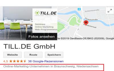 Update: Google My Business präsentiert neue Unternehmenskategorien