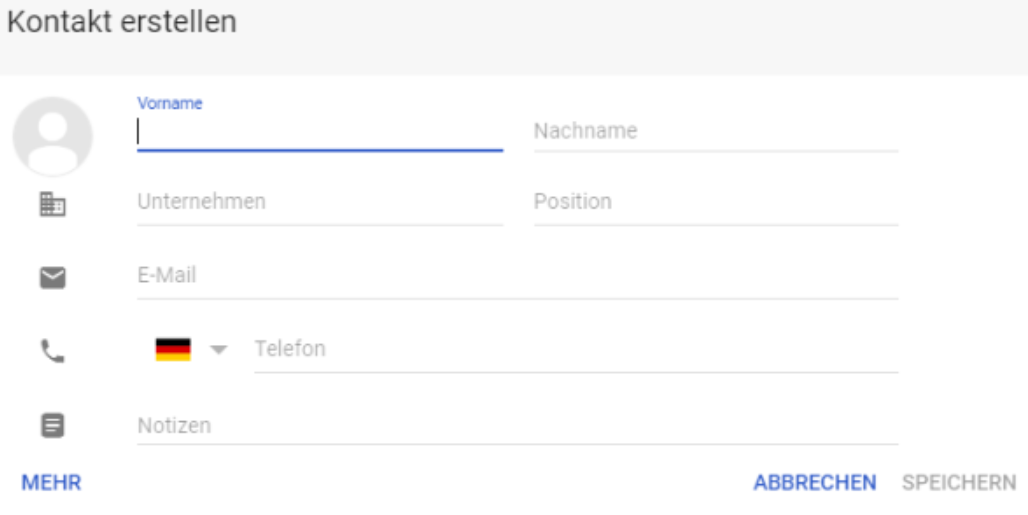 Google-Kontakte-Kontakt-erstellen Google Kontakte - Alle Ihre Kontakte jetzt online