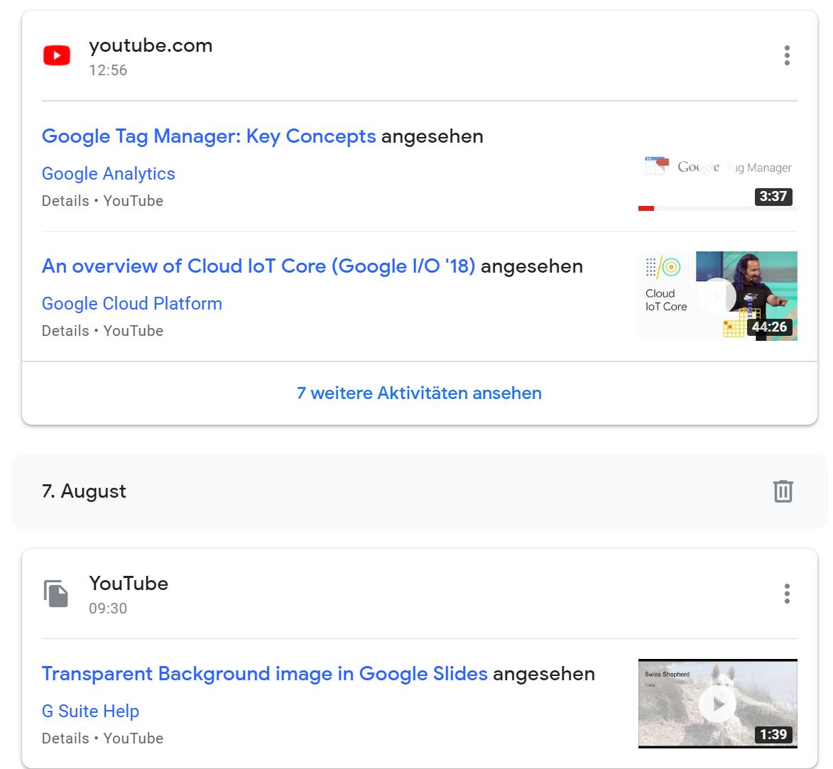 Google-My-Activity-Öberfläche-1 Google My Activity - mehr Transparenz für Suchende