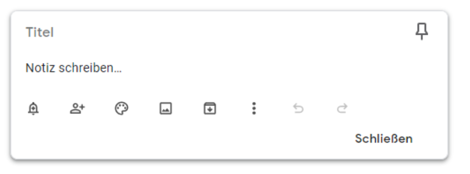 Google-Notizen-Öberfläche Google Notizen - Aufgaben und Ideen einfach notieren