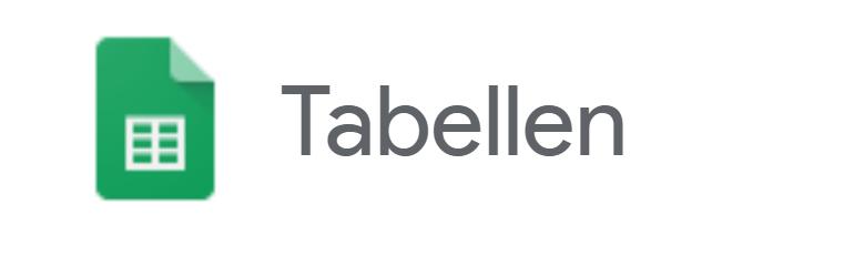 Google-Tabellen-Logo Google Tabellen - Einfach übersichtliche Statistiken und Diagramme erstellen