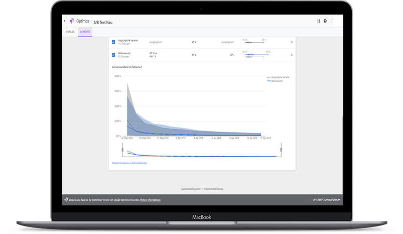 MacBook_optimale_veraenderungen_detail_optimize A/B Testing mit Google Optimize