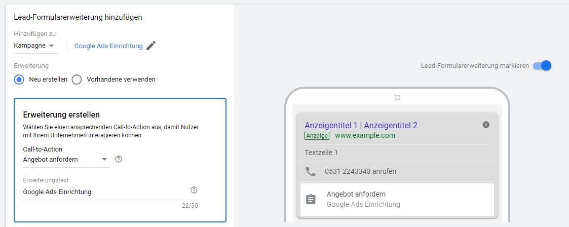 Bild-1-3 Google Ads Lead-Formularerweiterung