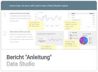 bericht_anleitung Liste mit Google Data Studio Report Templates