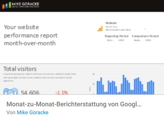 berichterstattung Liste mit Google Data Studio Report Templates
