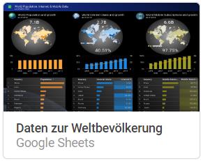 daten_weltbevoelkerung Liste mit Google Data Studio Report Templates