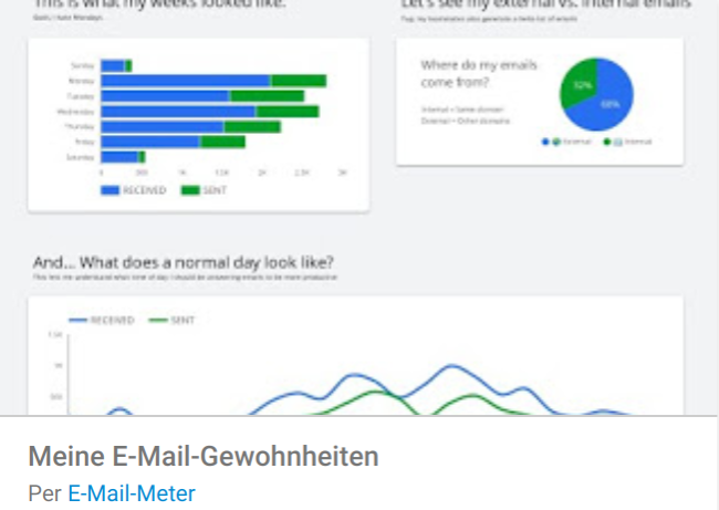 email-gewonheiten Liste mit Google Data Studio Report Templates