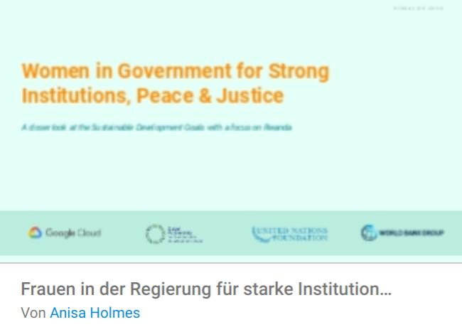 frauen-regierung Liste mit Google Data Studio Report Templates