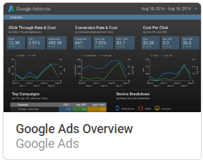 google_ads_overview Liste mit Google Data Studio Report Templates