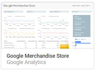 google_merchandise_store Liste mit Google Data Studio Report Templates
