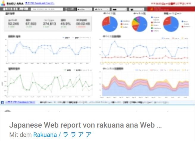 japanese-web-report Liste mit Google Data Studio Report Templates