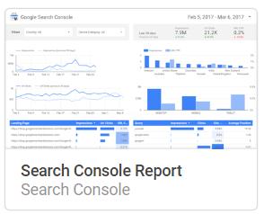 search_console_report Liste mit Google Data Studio Report Templates