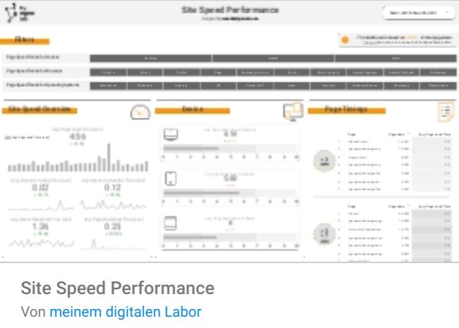 site-speed Liste mit Google Data Studio Report Templates