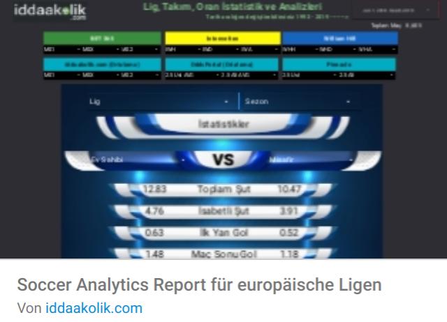 soccer-analytics-report Liste mit Google Data Studio Report Templates