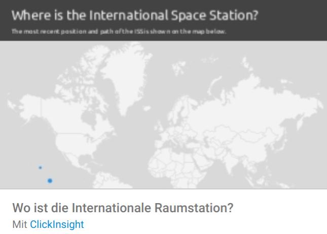 space-station Liste mit Google Data Studio Report Templates