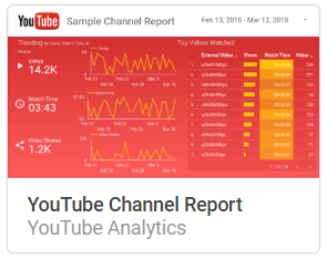 youtube_channel_report Liste mit Google Data Studio Report Templates