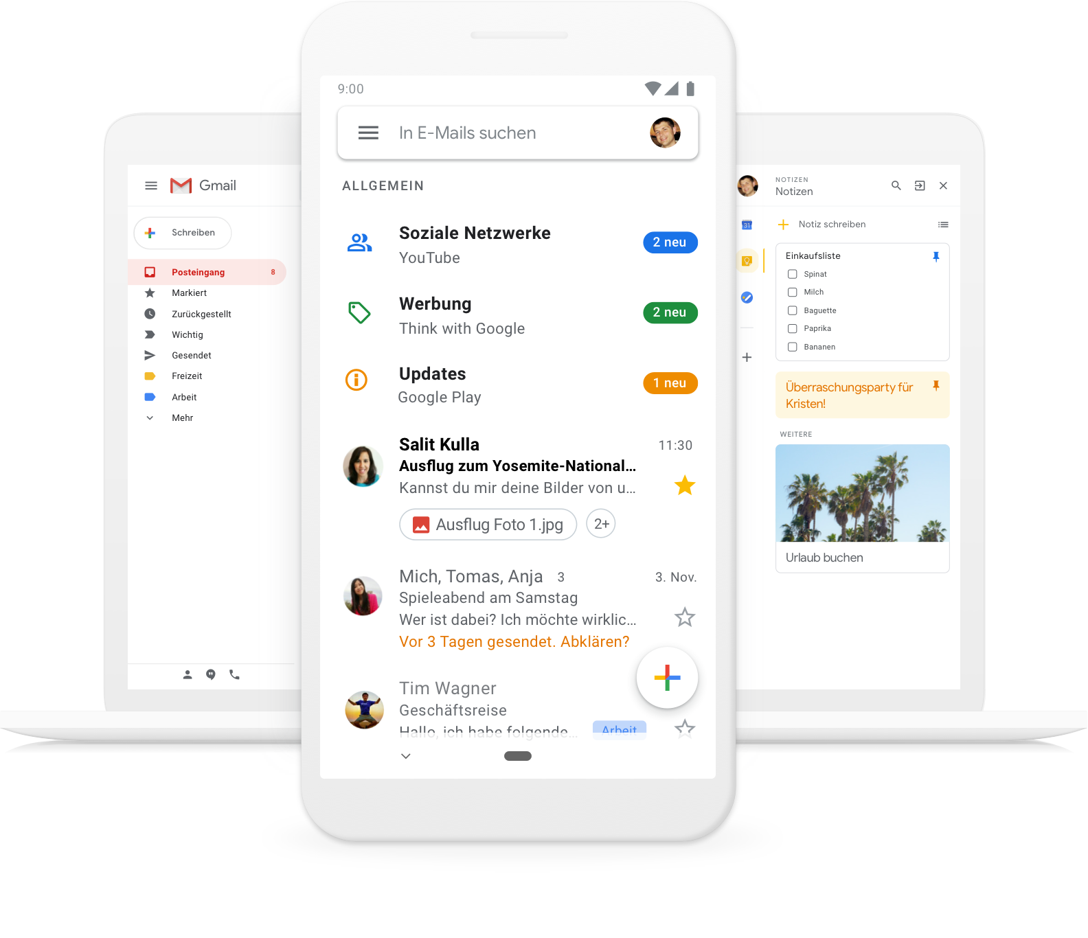 Google-Gmail Gmail - Der Intelligente E-Mail Account von Google