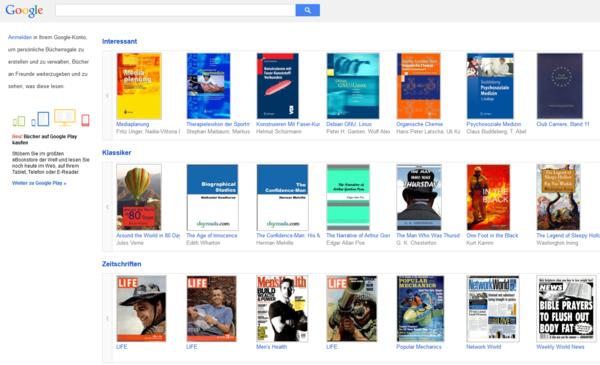 Google books Empfehlungen