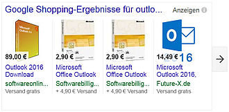 TILL.DE Google Shopping Outlook