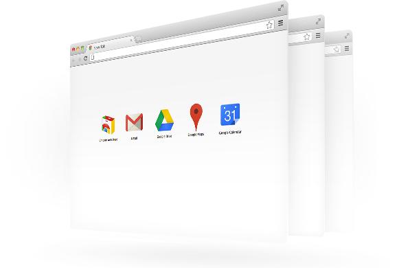 Google Chrome Fenster Ansicht