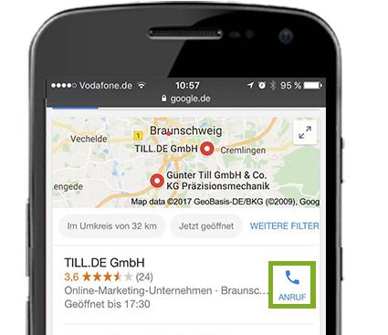 Google Ads Anruferweiterung