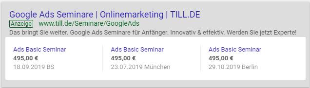 Screenshot Beispiel für Preiserweiterung mit Desktopansicht