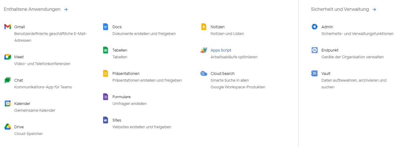 Workspace-Anwendung