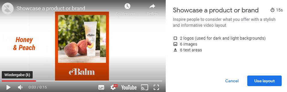 You Tube Video Builder | Showcase a produkt 2