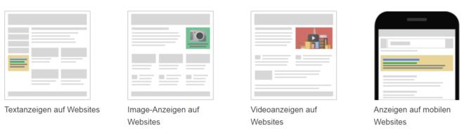Google Display Netzwerk Placements verschiedene Plattformen
