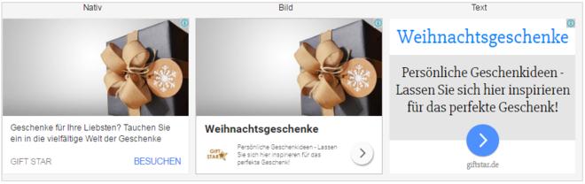 Anzeigenvorschau - Responsive Ads