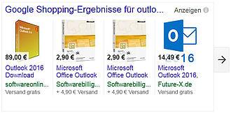 TILL.DE Google Shopping Outlook