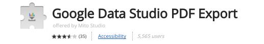 Google Data Studio - Chrome Erweiterung